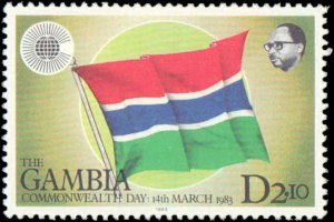 Gambia #459-462, Complete Set(4), 1983, Never Hinged