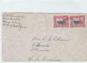 uganda kenya tanganyika 1948  stamps cover ref r16156