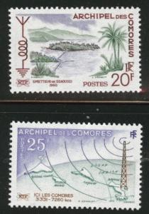 Comoro Islands Scott 46-47  MNH** 1960 radio wave set
