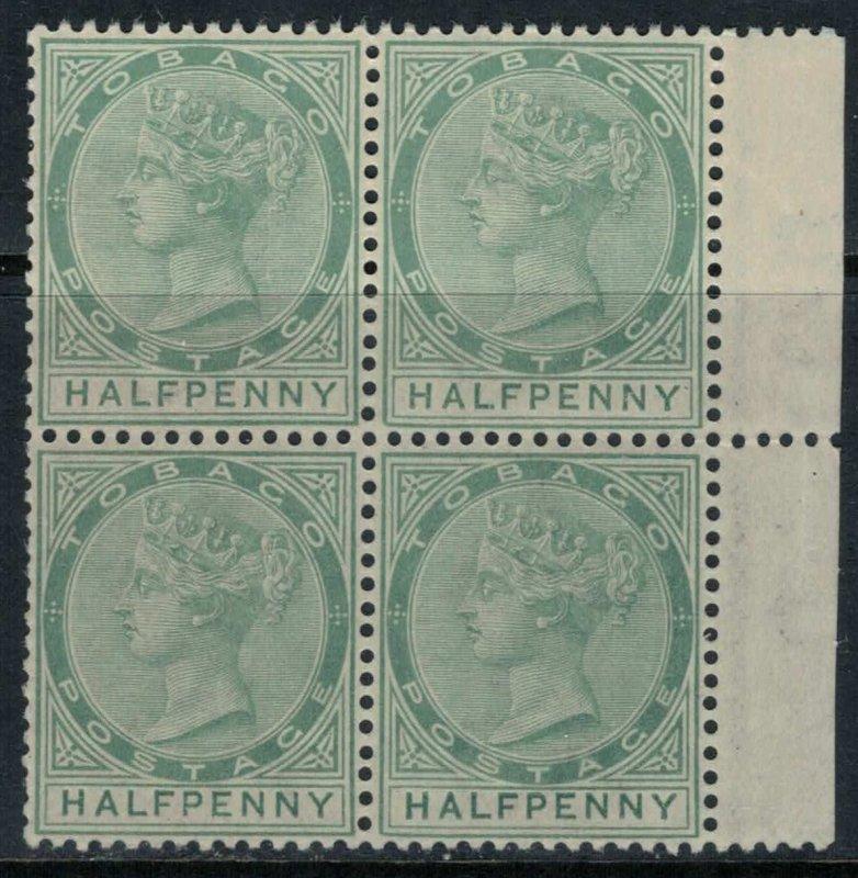 Tobago #15* NH Block of 4  CV $17.00