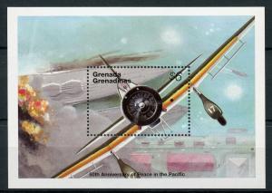 Grenadines Grenada 1995 MNH WWII WW2 VJ Day Peace Pacific 1v S/S Aviation Stamps