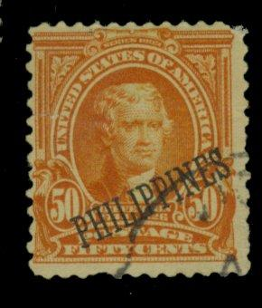 Philippines #236 Used Fine tear Cpl sht perfs Cat$35