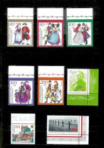 GERMANY (107) Different Mint Never Hinged Stamps Face Value=108DM+ (US$55+)