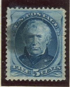 USA; 1879 classic Presidential series soft porous paper fine used 5c. value