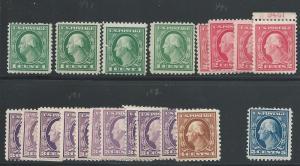 Scott 498(4)-9(4), 501(9)-2(4),3-4, Original Gum, 1917-9 ...