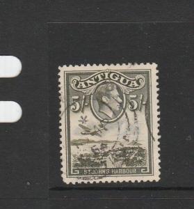 Antigua 1938 5/- used SG 107