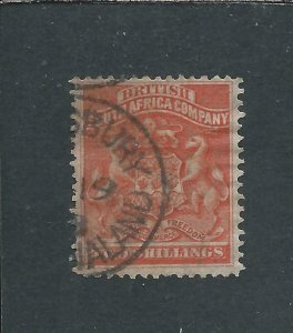 RHODESIA 1892-93 2s VERMILION FU SG 5 CAT £45