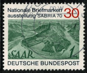 GERMANY 1970 SABRIA 70 STAMP EXHIBITION USED (VFU) P.14 SG1519 SUPERB
