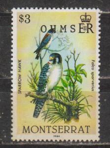 Montserrat. #O76.  O.H.M.S.  MNH
