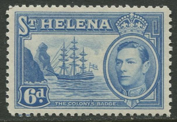 St.Helena - Scott 123 - KGVI Definitive -1938 - MVLH - Single 6p Stamp