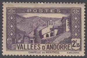 French Andorra 57 MLH (see Details) CV $60.00