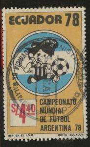 Ecuador Scott 973 used CTO stamp