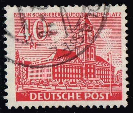 Germany #9N52 Schoeneberg Rudolf Wilde Square; Used (0.75)