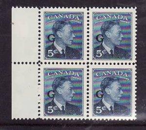 Canada-Sc#O20-block-5c KGVI postes-postage G-id7-Unused,og NH-1950-