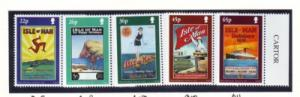 Isle of Man Sc 878-2 2000 Poster Art stamp set mint NH