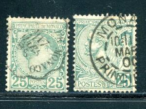 Monaco #6,.20  Used  F-VF  Cat $95  - Lakeshore Philatelics