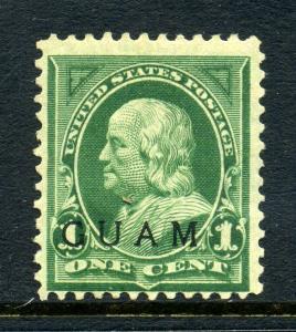 Guam Scott 1 Overprint Mint Stamp Special Printing w/PF Cert (Guam 1-pf1)