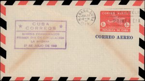 Cuba, Worldwide First Day Cover, Postal Stationery