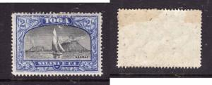 Tonga-Sc#50-unused-2sh dk ultra & blk-album page adhesion on top back-Haabal vie