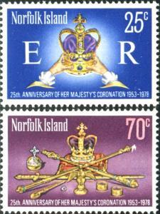 Norfolk Island 1978 SG207-208 QEII Coronation set MNH