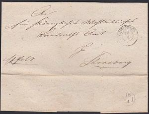 POLAND c1865 cover - folded entire ex GUTTOWO....... ......................55045
