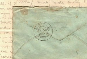 IRAQ WW1 Cover INDIA *FPO 366* Somerset Light Infantry 1919 Soldier Letter MAL25