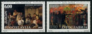 Yugoslavia 2405-2406,MNH.Michel 2855-2856. Europa CEPT-1998.Paintings.
