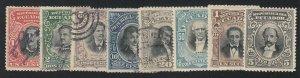 Ecuador - 1901 - SC 145-52 - Used/LH - Complete set - 150-52 LH