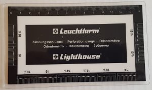Lighthouse Plastic Perforation Gauge For Stamp Collectors, #ZS, High Quality