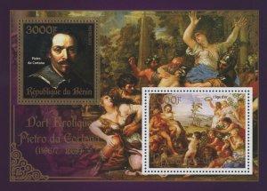 Erotic Art Paintings Titien Souvenir Sheet of 2 Stamps Mint NH