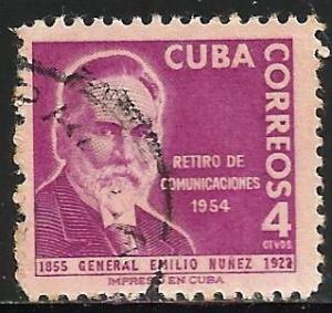 Cuba 1955 Scott# 544 Used