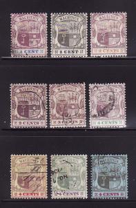 Mauritius 91-95, 97-100 U Coat of Arms (A)
