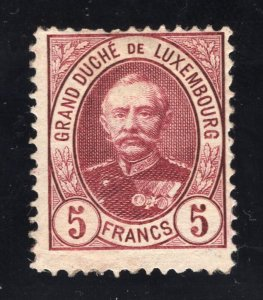 Luxembourg # 69 - High Value in the Set - Unused - O.G. - Previously Hinged