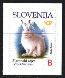 Slovenia. 2018. 1317. White hare, fauna. MNH.