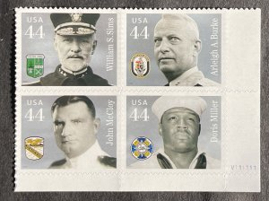 US 2010 Distinguished Sailors Plate Block of 4 BR V11111 # 4443a