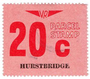 (I.B) Australia - Victoria Railways : Parcel Stamp 20c (Hurstbridge)