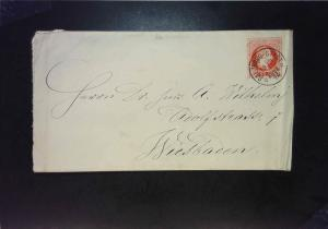 Austria 1874 Postal Stationary Used / Right Crease - Z1573