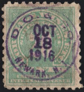 RE12 20¢ Cordials, Wines. Etc. Stamp (1914) Used