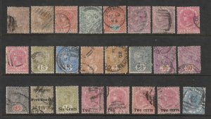 Ceylon a small collection of used QV