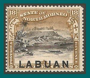 Labuan 1897 Mt Kinabalu, p15 mint  84a,SG99a