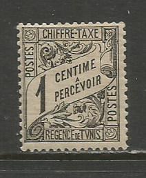 Tunisia  #J1  MLH  (1901)  c.v. $0.35