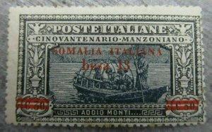 Italia Colonie Somalia Manzoni 1924 13b su 30c MNH** 18P39F130