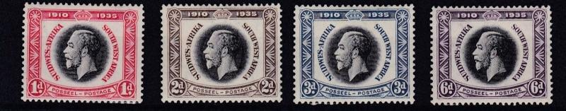 SOUTH WEST AFRICA  1935  S G 88 - 91  SILVER JUBILEE SET  MH