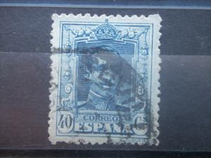 SPAIN, 1922, used 40c, King Alfonso XIII, Scott 340