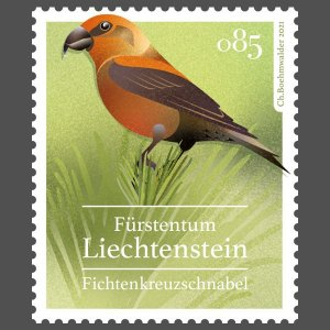 Stamps Of Liechtenstein 2021 - Native Songbirds.(1)