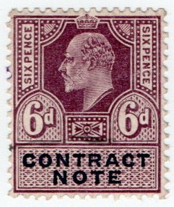 (I.B) Edward VII Revenue : Contract Note 6d