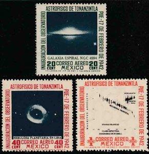 MEXICO C123-125, OPENING Tonanzintla Astrophysics Observatory UNUSED, H OG. VF.