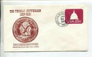 USS THOMAS JEFFERSON (SSBN 618) Submarine Naval Cover - GREAT CACHET