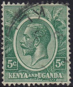 Kenya Uganda - 1927 - Scott #20 - used - King George V