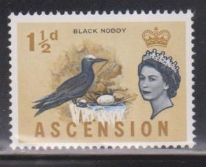 ASCENSION Scott # 76 MH - QEII & Bird - Black Noddy